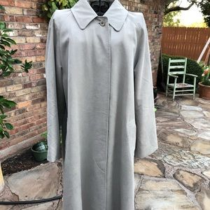 Burberry Womens Khaki Long Trench Rain Coat 10 P